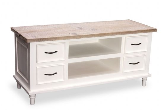 Fowey TV Unit - White - Special Order